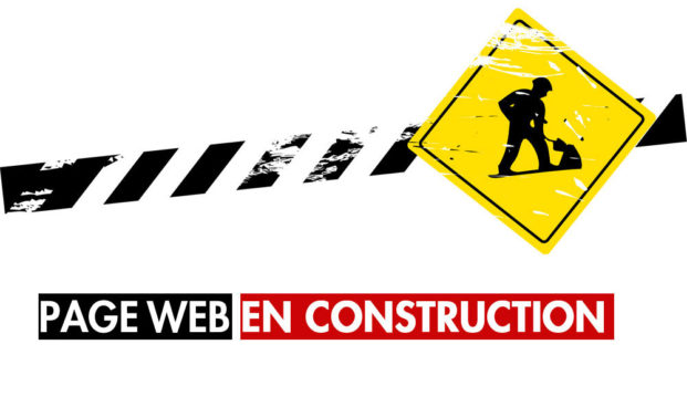 page web en construction